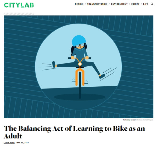 Cycling instruction education learn to ride CityLab 2017 National Bike Month