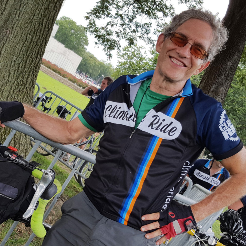At the finish of the 2016 Climate Ride from New York to DC
